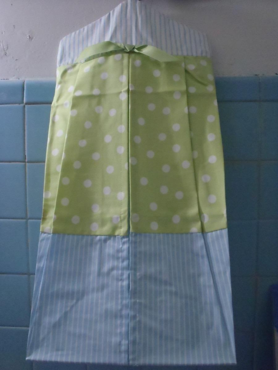 Porta Pañales De Tela Super Bonito Azul/verde Nvb - $ 340.00 en ...