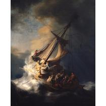 Lienzo-tela, Rembrandt, Cristo En La Tormenta, 70x95 Cm