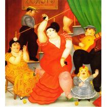 Lienzo-tela, Flamenco, Fernando Botero, 90 X 100 Cm