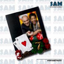 Portaretrato En Resina Casino Juego Foto Recuerdo