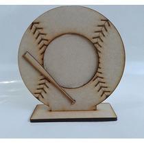 12 Portarretratos Baseball Beisbol Pelota Recuerdito Mdf