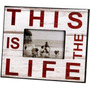 Photo Frame - This Is The Life Blanco La Felicidad Inicio