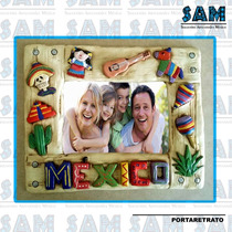Portaretrato En Resina Iconos De Mexico Foto Familia