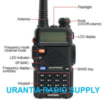 Baofeng Uv-5r Radio Dual Band Vhf/uhf 136-174/400-520 Mhz