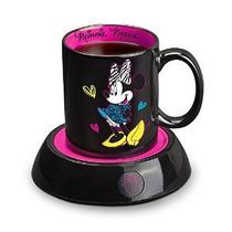 Disney Dmg18 Minnie Mouse Taza Calentador Negro