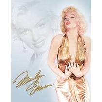Poster Metalico Lamina Marilyn Monroe Gold Vintage Retro Afi