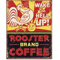Poster Lamina Anuncio Retro Antiguo Letrero Cafe Rooster Bra
