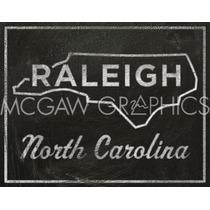 Poster (36 X 28 Cm) Raleigh North Carolina John W. Golden