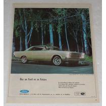 Antiguo Anuncio Publicidad De Autos Ford Galaxie 500