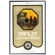 Poster Tela Anuncio Camiones Daimler Alemania 1918 60 X 40cm