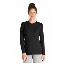Coolibar Upf 50+ Mujeres Zno Con Cuello En V T-shirt - Prote