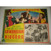 Gary Cooper, La Mansion De Las Viboras, Cartel De Cine