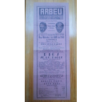 Cartel Teatro Arbeu 1948, Soler, Cantinflas, Ciangherotti