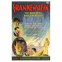 Lienzo Tela Poster Película Frankenstain 1931 Cine 75 X 50cm