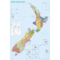Nueva Zelanda Poster - Mapa Maxi 61x 91.5cm País Mapa