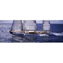 Poster (91 X 30 Cm) Sailboat In The Sea Antigua Panoramic