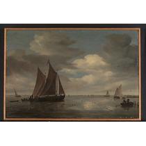 Poster (46 X 61 Cm) Fishing Boats On A River Salomon Van