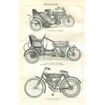 Lienzo Tela Poster Motos Antiguas Nsu Alemania 1910 79 X 50