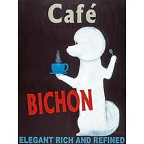 Café Bichon Cartel Impresión Ken Bailey