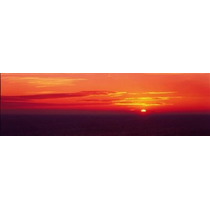 Poster (91 X 30 Cm) Sunrise Lake Michigan Usa Panoramic