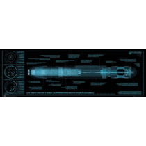 El Doctor Who Cartel - Destornillador Sónico Midi 30.5x 91.
