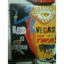 Poster Decorativo Lamina Anuncio Las Vegas Vuela Por Twa