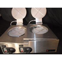 Waflera Industrial Doble Ac Inox Para Restaurant Voltage 220