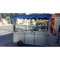 Carro Para Tacos En Acero Inox. Con Comal De Bola