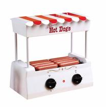 Maquina Hot Dogs Nostalgia Asador Rodante Salchichas