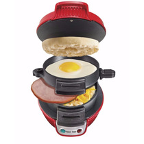 Sandwichera Para Preparar Desayuno Color Rojo