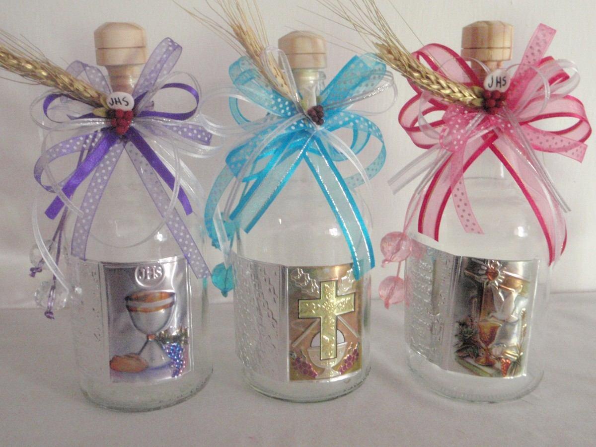 Arreglos de botellas para bautizo imagui - Centros d mesa primera comunion ...
