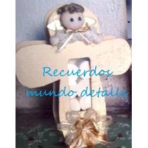 Angelitos Cruz De Madera Bautizo Presentación