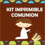 Kit Para Imprmir Comunion Bautizo Baby Shower