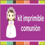 Kit Imprimible Primera Comunion, Presentacion Recuerdos