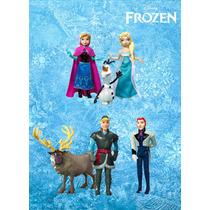 Set De Figuras De Frozen Elsa Anna Olaf Kristof Sven Y Hans