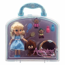 Disney Store Set De Juego Mini Muñeca Cenicienta Animators.
