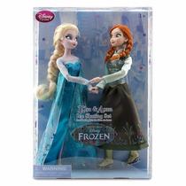 Muñecas Anna Y Elsa Frozen Patines Ice Skating Disney Store!