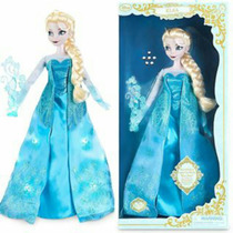 Elsa Frozen Delux 43cm Canta Y Prende Original Disney Store