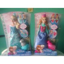 Frozen Anna Y Elsa Cambia De Color Lote