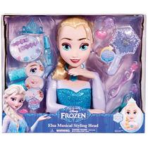 Disney Frozen Elsa Figura Cabeza Musical Estilismo C/ Accs.!