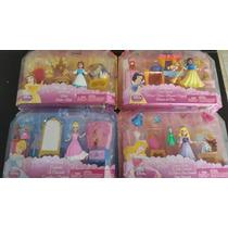 Princesas Disney Set Bella, Cenicienta, Aurora, Blanca Nieve