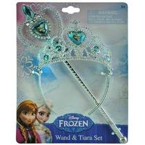 Disney Congelado Princesa Ana Y Elsa Varita Mágica Y Tiara C