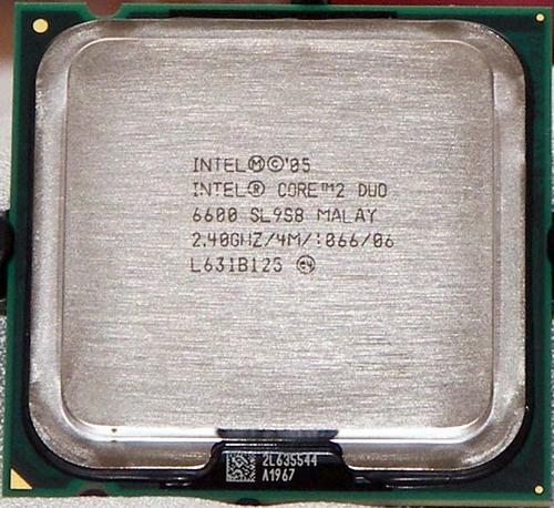 Procesador Intel Core 2 Duo E6600 2.4 Ghz 4mb Sl9zl Lga 775 - $ 400.00 en MercadoLibre