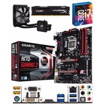 Kit Core I7 6700k + Corsair H60 + Ga-h170-gaming 3 +8gb Ddr4
