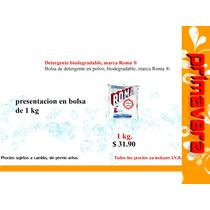 Detergente Biodegradable, Marca Roma ®.