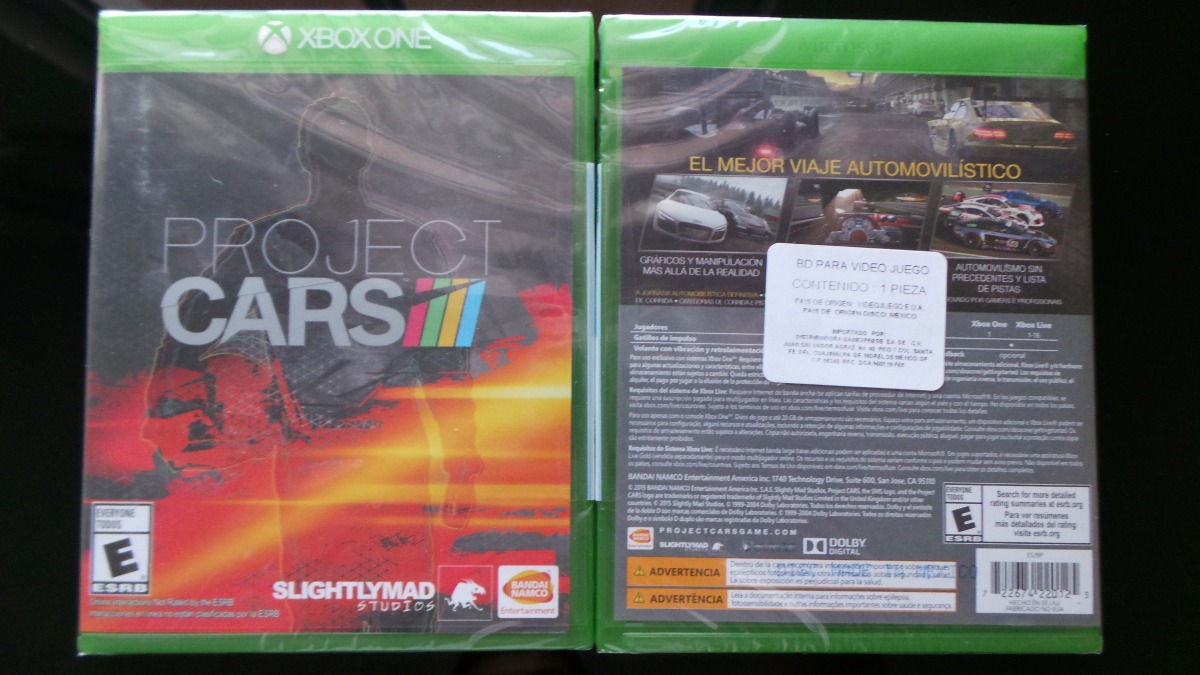 project cars xbox one nuevo sellado en mercadolibre. Black Bedroom Furniture Sets. Home Design Ideas