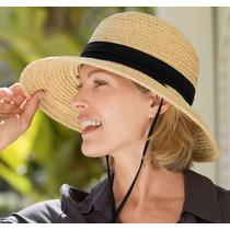 Sombrero Catalina Con Protección Solar Upf 50+ Playa, Moda