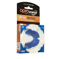 Protector Bucal - Opro Escudo De Bronce Ortho Azul Rugby Tir