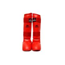 Espinillera Con Empeinera Karate Asiana Segura -rojo -l