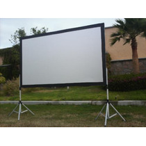 Pantalla , De Proyector , Back And Front Projection ,3x2 M